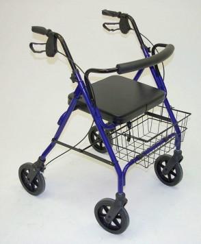 Rollator XXL tot 178 KG Blauw (Retour model)